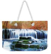Falls Panorama-features In Groups Rivers Streams And Waterfalls-visions Of The Night Weekender Tote Bag
