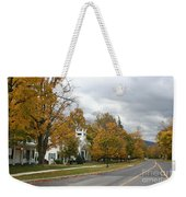 Autumn Trees At The Roadside Weekender Tote Bag