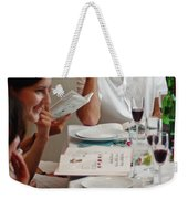 Family Around The Sedder Table Weekender Tote Bag