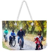 Family Bike Ride Weekender Tote Bag