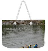 Family Canoeing At Lower Tahquamenon Falls Weekender Tote Bag
