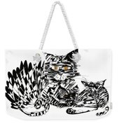 Family Cat Weekender Tote Bag