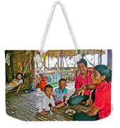 Family In Countryside Outside Of Siem Reap-cambodia Weekender Tote Bag