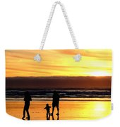 Family In The Yellow Spotlight Weekender Tote Bag