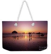 Family On Beach Face Rock Bandon Weekender Tote Bag