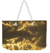 Family On Hillside Holding Hands And Facing Life Together. Weekender Tote Bag