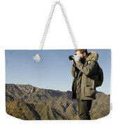 Family On The Great Wall Weekender Tote Bag