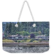 Family Outing - Orcas Weekender Tote Bag by Randy Hall