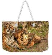 Tiger Family Weekender Tote Bag