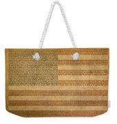 Famous Patriotic Quotes American Flag Word Art Weekender Tote Bag