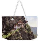 Famous Tigers Nest Monastery Of Bhutan 12 Weekender Tote Bag