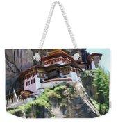 Famous Tigers Nest Monastery Of Bhutan 7 Weekender Tote Bag