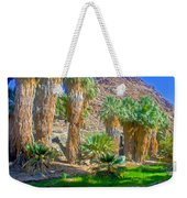 Fan Palms By The Creek In Lower Palm Canyon In Indian Canyons Near Palm Springs-california Weekender Tote Bag