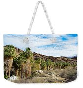Fan Palms Line The Creek In Andreas Canyon In Indian Canyons-ca Weekender Tote Bag