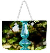 Fancy Blue Ornament Weekender Tote Bag