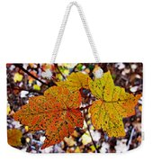 Fancy Fall Leaves Weekender Tote Bag