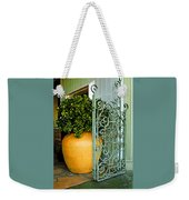 Fancy Gate And Plain Pot Weekender Tote Bag