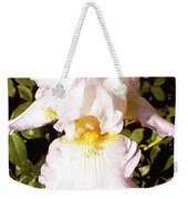 Fancy Lady White Iris Weekender Tote Bag