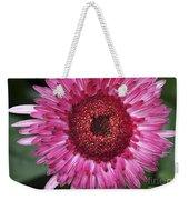 Fancy Pink Daisy Weekender Tote Bag
