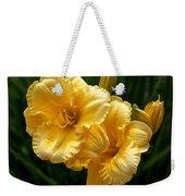 Fancy Yellow Daylilies Weekender Tote Bag