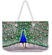 Fanning Peacock Weekender Tote Bag