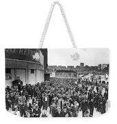 Fans Leaving Yankee Stadium. Weekender Tote Bag by Underwood Archives