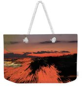 Fantastic Space Sunset Weekender Tote Bag