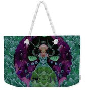 Fantasy Cat Fairy Lady On A Date With Yoda. Weekender Tote Bag