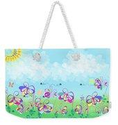 Fantasy Flower Garden - Childrens Digital Art Weekender Tote Bag