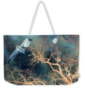 Seagull Gothic Fantasy Surreal Trees And Seagull Flying Weekender Tote Bag