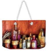 Fantasy - Wizard's Ingredients Weekender Tote Bag by Mike Savad