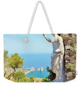 Faraglioni Rocks From Mt Solaro Capri Weekender Tote Bag