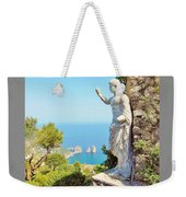 Faraglioni Rocks From Mt Solaro Capri Weekender Tote Bag