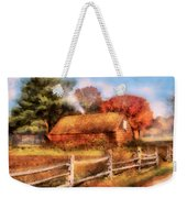 Farm - Barn - Our Cabin Weekender Tote Bag by Mike Savad