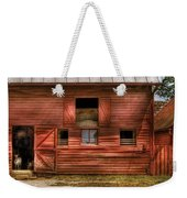 Farm - Barn - Visiting The Farm Weekender Tote Bag by Mike Savad