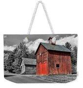 Farm - Barn - Weathered Red Barn Weekender Tote Bag