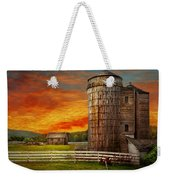 Farm - Barn - Welcome To The Farm  Weekender Tote Bag by Mike Savad