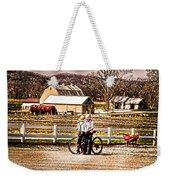Farm Boys Country Exchange Weekender Tote Bag by Randall Branham