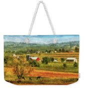 Farm - Cow - Cows Grazing Weekender Tote Bag by Mike Savad