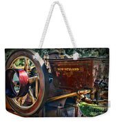 Farm Equipment - New Holland Feed And Cob Mill Weekender Tote Bag by Paul Ward