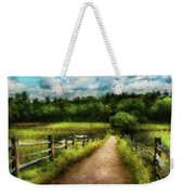 Farm - Fence - Every Journey Starts With A Path  Weekender Tote Bag