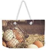 Farm Fresh Eggs Weekender Tote Bag