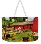 Farm - Laundry - Old School Laundry Weekender Tote Bag by Mike Savad