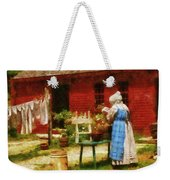 Farm - Laundry - Washing Clothes Weekender Tote Bag