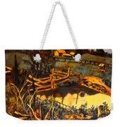 Farm Pond Reflections Weekender Tote Bag