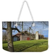 Farm Scene With Barns And Silo Weekender Tote Bag