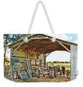 Farm Shed Digital Watercolor Weekender Tote Bag