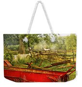 Farm - Tool - A Rusty Old Wagon Weekender Tote Bag by Mike Savad