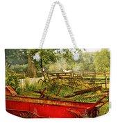 Farm - Tool - A Rusty Old Wagon Weekender Tote Bag