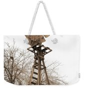 Farm Windmill In Sepia Weekender Tote Bag